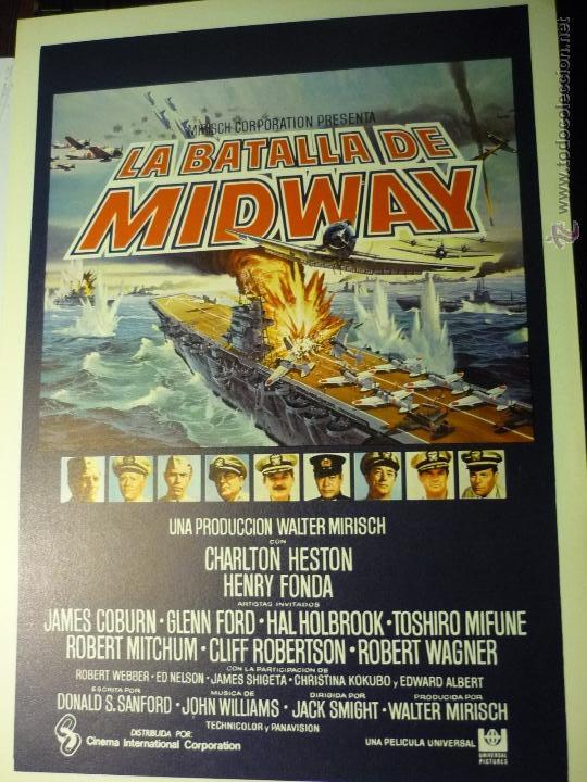 GUIA DOBLE LA BATALLA DE MIDWAY- CHARLTON HESTON.-HENRY FONDA (Cine - Guías Publicitarias de Películas )