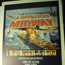 Cine: GUIA DOBLE LA BATALLA DE MIDWAY- CHARLTON HESTON.-HENRY FONDA. Lote 47346832