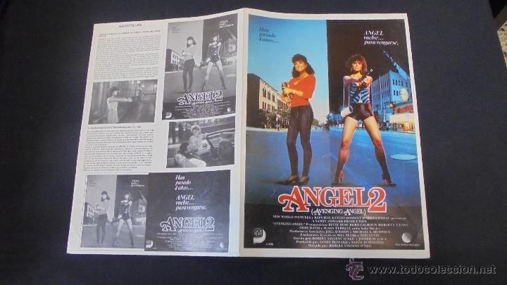 GUIA PUBLICITARIA DE LA PELICULA ANGEL 2. (Cine - Guías Publicitarias de Películas )