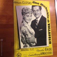 Cine: GUÍA UNA MUCHACHITA DE VALLADOLID.ANALIA GADE ALBERTO CLOSAS. Lote 47687350