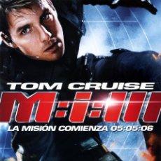 Cine: M:I:III LA MISION COMIENZA 05:05:06 (GUIA ORIGINAL 4 PAGINAS CON FOTOS) TOM CRUISE. Lote 147574529