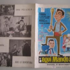 Cine: AQUI MANDO YO MANOLO CODESO GRACITA MORALES GUIA PUBLICITARIA ORIGINAL DEL ESTRENO. Lote 48451507