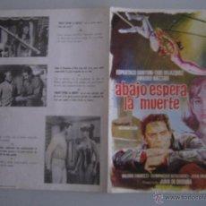 Cine: ABAJO ESPERA LA MUERTE ESPARTACO SANTONI CIRCO GUIA PUBLICITARIA ORIGINAL ESTRENO. Lote 48464935