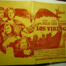 Cine: GUIA LOS VIKINGOS-36 PAG. KIRK DOUGLAS-TONY CURTIS---BB. Lote 48530345