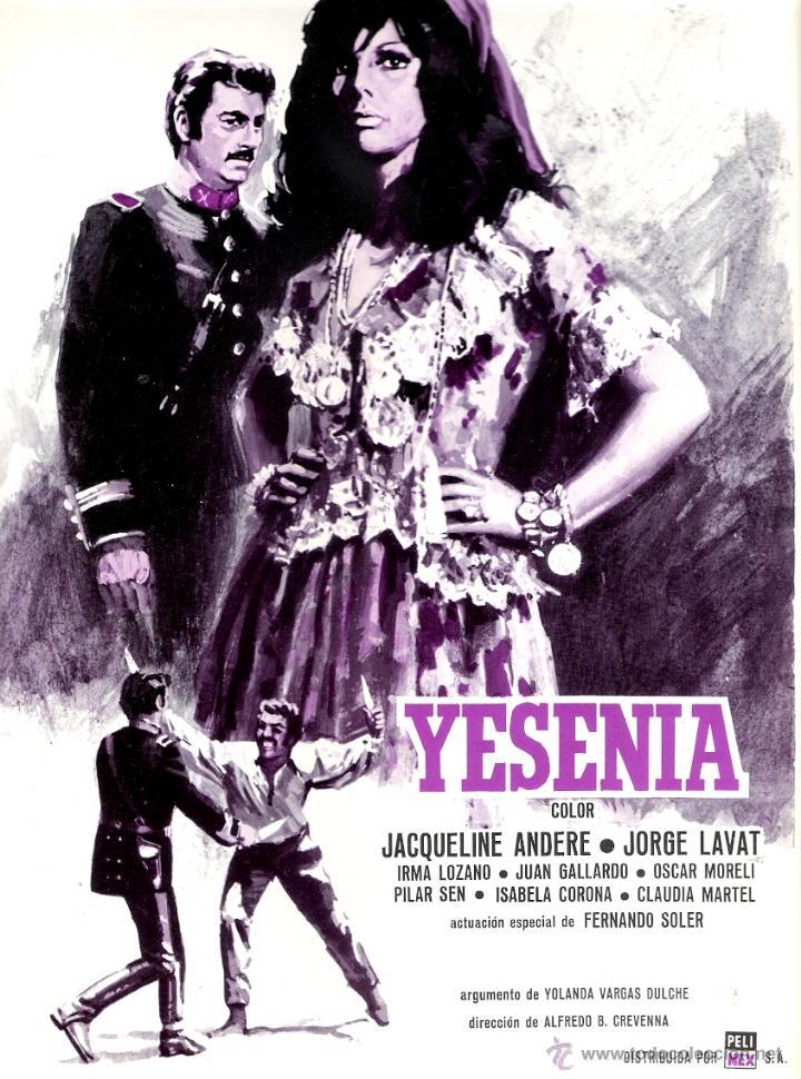 YESENIA GUIA ORIGINAL SENCILLA DEL ESTRENO DE LA PELICULA JAQUELINE ANDERE (Cine - Guías Publicitarias de Películas )