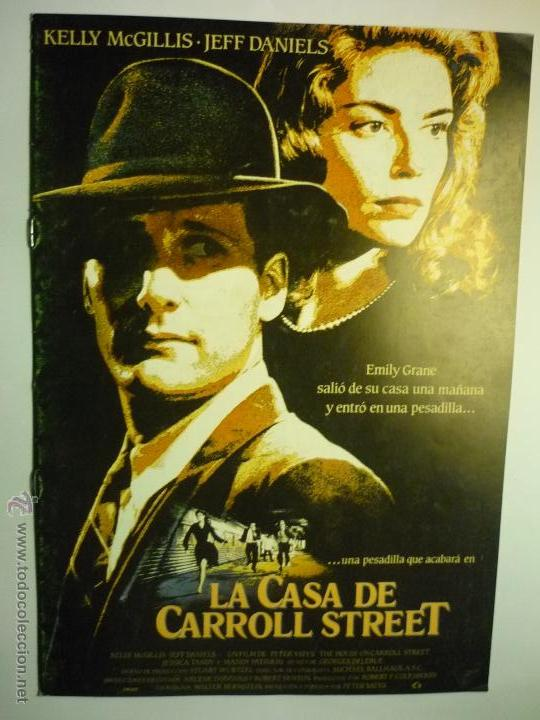 GUIA 8 PAG. LA CASA DE CARROLL STREET .- KELLY MCGILLIS (Cine - Guías Publicitarias de Películas )