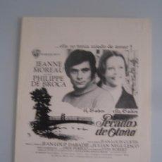 Cine: PECADOS DE OTOÑO JEANNE MOREAU GUIA PUBLICITARIA ORIGINAL ESTRENO. Lote 48834735