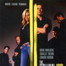 Cine: THE ITALIAN JOB (GUIA ORIGINAL 4 PAGINAS DE SU ESTRENO EN ESPAÑA CON FOTOS). Lote 147574649