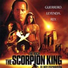 Cine: THE ROCK THE SCORPION KING EL REY ESCORPION (GUIA ORIGINAL 4 PAGINAS ESTRENO EN ESPAÑA CON FOTOS). Lote 147574502