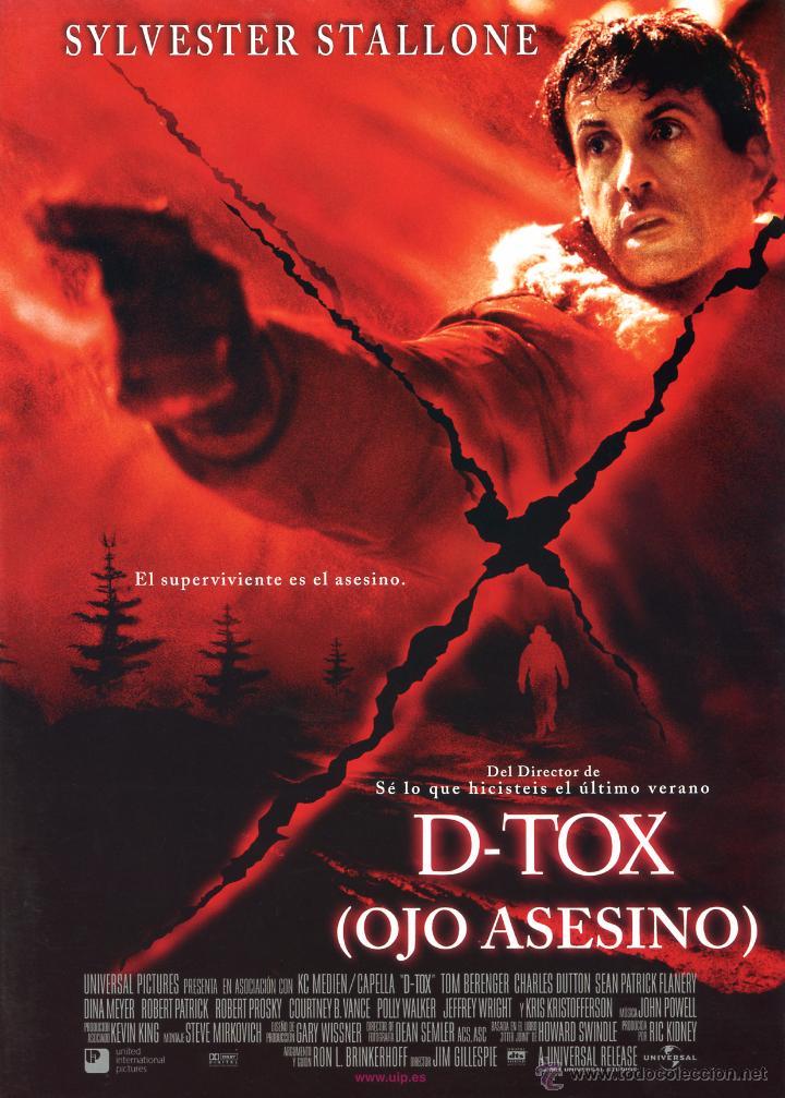 D -TOX OJO ASESINO (GUIA ORIGINAL 4 PAGINAS DE SU ESTRENO EN ESPAÑA CON FOTOS) SYLVESTER STALLONE (Cine - Guías Publicitarias de Películas )