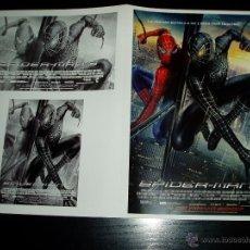 Cine: SPIDER-MAN 3. GUIA PUBLICITARIA DOBLE.ORIGINAL ESTRENO. NUEVO.. Lote 277192388