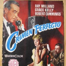 Cine: CRIMEN PERFECTO - 1954 ALFRED HITCHCOCK , RAY MILLAND , GRACE KELLY. Lote 49041371