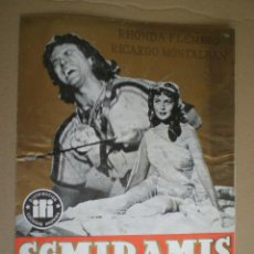 Cine: SEMIRAMIS ESCLAVA Y REINA // GUIA DESPLEGABLE // RHONDA FLEMING RICARDO MONTALBAN C.L. BRAGAGLIA. Lote 49061657