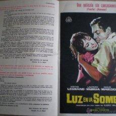 Cine: IRIS FILMS // BOLETIN INFORMATIVO Nº 169 ENERO 1963 // CON PUBLICIDAD DE: LUZ EN LA SOMBRA . Lote 49061963