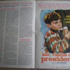 Cine: IRIS FILMS // BOLETIN INFORMATIVO Nº 171 MARZO 1963 // CON PUBLICIDAD DE: LAS VISITAS DEL PRESIDENTE. Lote 49062188