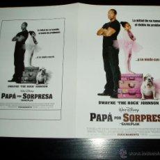Cine: PAPA POR SORPRESA. GUIA PUBLICITARIA DOBLE. ORIGINAL DE LA PELÍCULA. NUEVO.. Lote 143394708