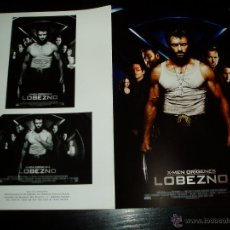 Cine: X-MEN ORIGENES LOBEZNO. GUIA PUBLICITARIA DOBLE. ORIGINAL DE LA PELÍCULA. NUEVO.. Lote 277184273