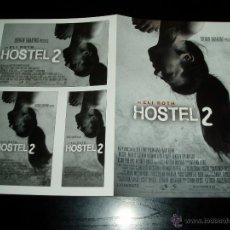 Cine: HOSTEL 2. GUIA PUBLICITARIA DOBLE. ORIGINAL DE LA PELÍCULA. NUEVO.. Lote 49141770