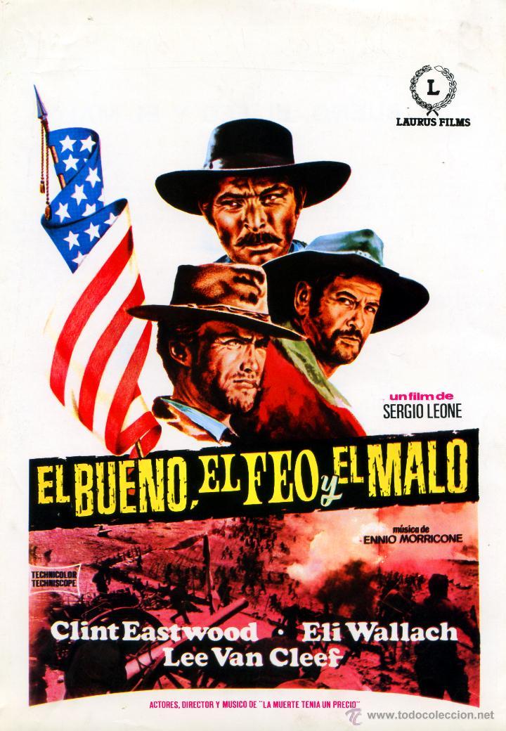 EL BUENO EL FEO Y EL MALO 1966 (GUIA ORIGINAL) CLINT EASTWOOD LEE VAN CLEEF DIRECTOR SERGIO LEONE (Cine - Guías Publicitarias de Películas )