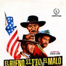 Cine: EL BUENO EL FEO Y EL MALO 1966 (GUIA ORIGINAL) CLINT EASTWOOD LEE VAN CLEEF DIRECTOR SERGIO LEONE. Lote 49148661