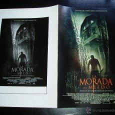 Cine: LA MORADA DEL MIEDO. GUIA PUBLICITARIA DOBLE. ORIGINAL.MAGNIFICO ESTADO.NUEVO.. Lote 122722978