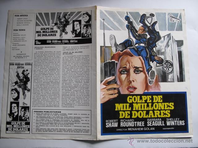 X2714 GOLPE DE MIL MILLONES DE DOLARES NO ENTRA EN LOTES (Cine - Guías Publicitarias de Películas )