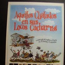 Cine: GUIA PUBLICITARIA AQUELLOS CHALADOS EN SUS LOCOS CACHARROS. Lote 49702473