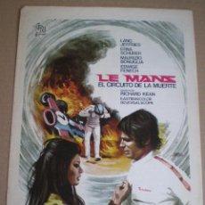 Cine: LE MANS , EL CIRCUITO DE LA MUERTE // GUIA ORIGINAL 1971 // FORMULA 1 AUTOMOVILISMO AUTO RACING F1. Lote 49710075