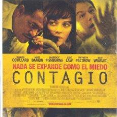 Cinéma: CONTAGIO. GUIA ORIGINAL ESTRENO.. Lote 49824716