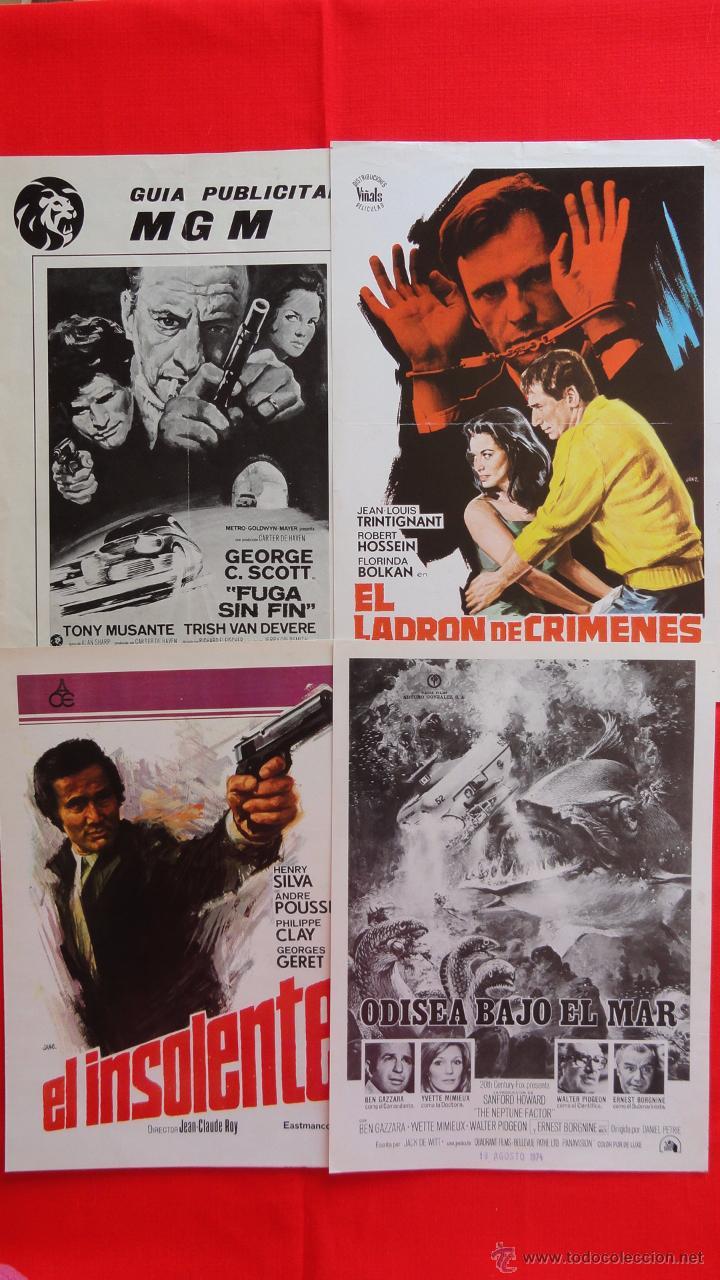 Cine: Lote 15 guías variadas,diferentes temáticas suspense, terror, acción, principalmente años 70. Lgui15 - Foto 2 - 49953527