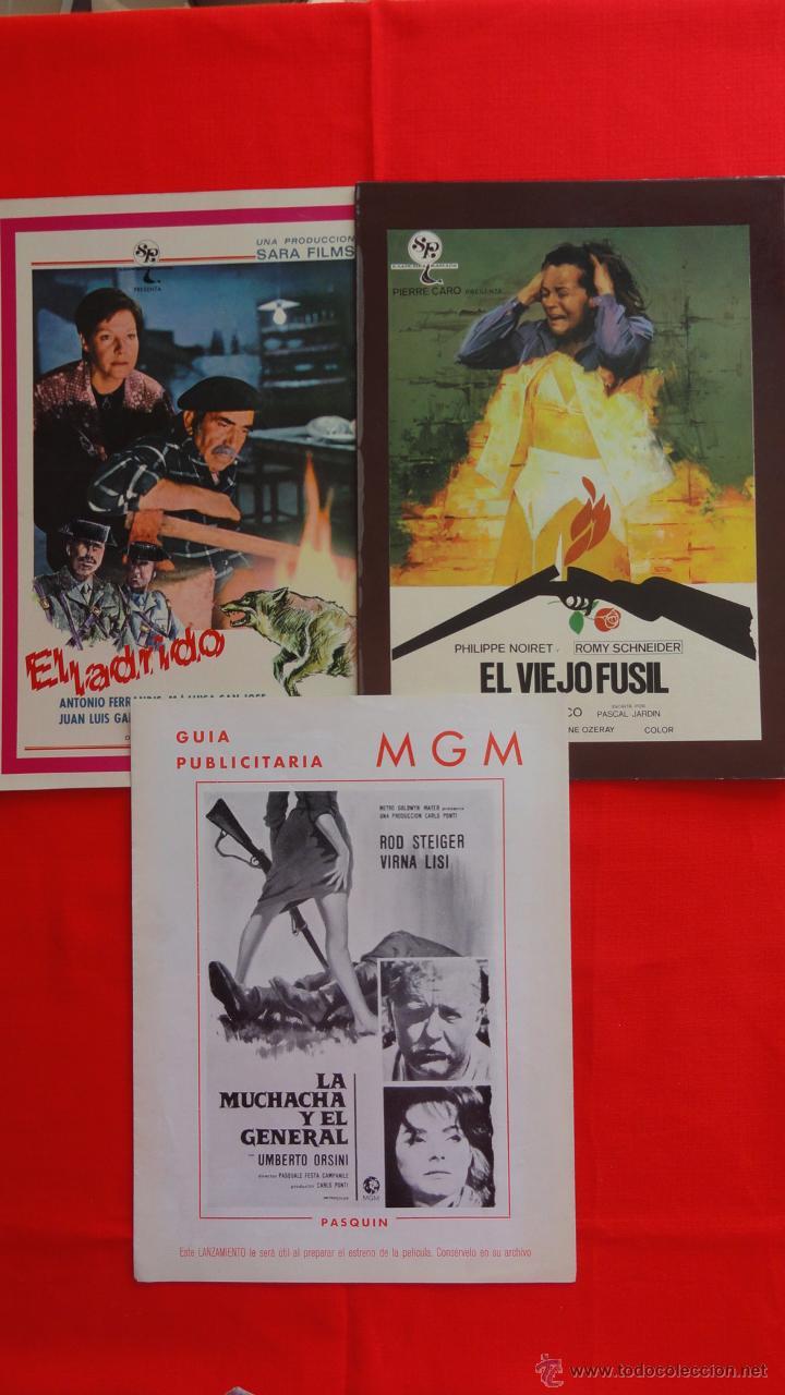 Cine: Lote 15 guías variadas,diferentes temáticas suspense, terror, acción, principalmente años 70. Lgui15 - Foto 5 - 49953527