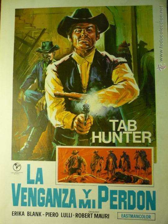 GUIA DOBLE LA VENGANZA Y MI PERDON- TAB HUNTER (Cine - Guías Publicitarias de Películas )