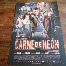 Cine: CARNE DE NEON - MARIO CASAS, VICENTE ROMERO, BLANCA SUAREZ, MACARENA GOMEZ - GUIA ORIGINAL. Lote 50023496