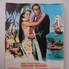 Cine: REBELION A BORDO - GUIA - MARLON BRANDO / RICHARD HARRIS - VER FOTOS ADICIONALES. Lote 50044876