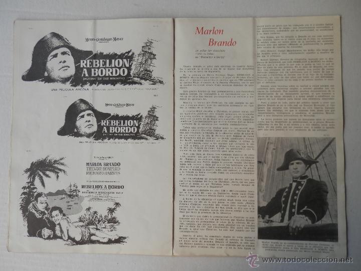 Cine: REBELION A BORDO - GUIA - MARLON BRANDO / RICHARD HARRIS - VER FOTOS ADICIONALES - Foto 6 - 50044876