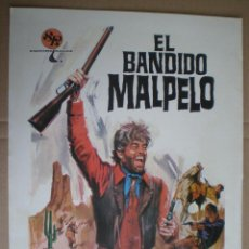 Cine: EL BANDIDO MALPELO - GUIA PUBLICITARIA 1972 // SPAGHETTI WESTERN GUIUSEPPE SCOTESE CHARO LOPEZ. Lote 50315272