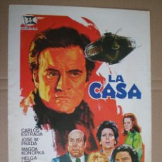 Cine: LA CASA - GUIA PUBLICITARIA 1974 // PSYCHOTRONIC SCI-FI ANGELINO FONS CARLOS MAGDA KONOPKA JANO. Lote 50315500