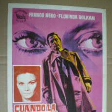 Cine: CUANDO LA AMBICION SE TIÑE DE ROJO - GUIA PUBLICITARIA 1971 // GIALLO ROMOLO GUERRIERI FRANCO NERO. Lote 50315590