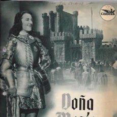 Cine: DOÑA MARÍA LA BRAVA. PRODUCCIÓN MANUEL DEL CASTILLO. 30,9 X 21,9 CM. Lote 50419410