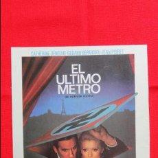 Cine: EL ULTIMO METRO, 1A SELECCIÓN 81 DE FILMAYER, CATHERINE DEVENUE GERARD DEPARDIEU. Lote 50426630