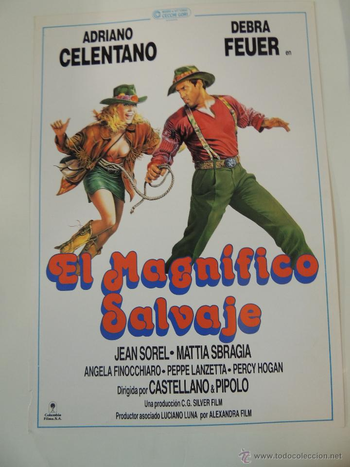 EL MAGNIFICO SALVAJE - GUIA PUBLICITARIA ADRIANO CELENTANO DEBRA FEUER JEAN SOREL CASTELLANO PIPOLO (Cine - Guías Publicitarias de Películas )