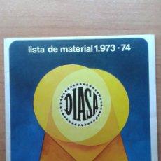 Cine: LISTA DE MATERIAL DIASA PARA 1973-74. Lote 50496072