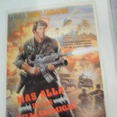 Cine: MAS ALLA DE LAS LINEAS ENEMIGAS - GUIA PUBLICITARIA ORIGINAL - DAVID CARRADINE MAKO MENAHEM GOLAN. Lote 50497544