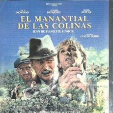 Cinema: GUÍA PUBLICITARIA DE CINE EL MANANTIAL DE LAS COLINAS, ORIGINAL, 20 POR 30CM. Lote 50818716