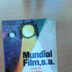 Cinéma: LISTA DE LUJO DE MATERIAL TEMPORADA 1975 MUNDIAL FILM. Lote 51127493