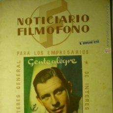 Cine: GUIA-REVISTA FILMOFONO 32 PAG. ARTICULOS, GUIAS, FOTOS, ETC---BB. Lote 51381803