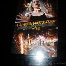 Cine: LA HORA MAS OSCURA. 3D. GUIA PUBLICITARIA SENCILLA. ORIGINAL.MAGNIFICO ESTADO.NUEVO.. Lote 51551729