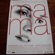 Cine: MAMA - PENELOPE CRUZ, LUIS TOSAR, ASIER ETXEANDIA - DIR. JULIO MEDEM - GUIA ORIGINAL EONE AÑO 2015. Lote 51579762