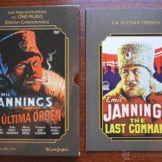 Cine: LA ÚLTIMA ORDEN (J. VON STERNBERG, 1928, E. JANNINGS) (LIBRETO + CAJA, NO DVD) (VER FOTOS). Lote 51675066