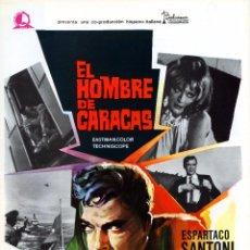 Cine: EL HOMBRE DE CARACAS 1970 (GUIA ORIGINAL CON FOTOS 4 PAGINAS ESTRENO ESPAÑA) ESPARTACO SANTONI. Lote 143717542